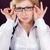 jovem · mulher · de · negócios · praça · óculos · escritório - foto stock © rosipro