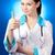 jovem · sorrindo · médico · polegar · para · cima - foto stock © rosipro