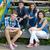 feliz · quatro · adolescentes · sessão · juntos · passos - foto stock © rosipro