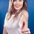 молодые · счастливым · женщину · синий - Сток-фото © rosipro
