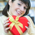 gelukkig · vrouw · Rood · geschenkdoos · jonge · glimlachend - stockfoto © rosipro