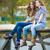 dois · escolas · meninas · sessão · rio · ponte - foto stock © rosipro