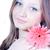 belo · mulher · jovem · rosa · flor · mulher - foto stock © rosipro