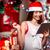 jonge · dame · geschenken · lezing · christmas - stockfoto © rosshelen