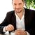ハンサムな男 · 飲料 · コーヒー · レストラン · ビジネス · ランチ - ストックフォト © RossHelen