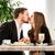 restaurante · beijando · data · café · da · manhã · mulher - foto stock © RossHelen