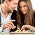 young couple at the restaurant stock photo © rosshelen