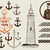 Set of marine and nautical elements. Vector stock photo © roverto