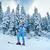 öröm · síel · fa · hó · tél · jókedv - stock fotó © rozbyshaka
