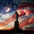 nap · hörcsög · világ · szobor · zászló · USA - stock fotó © rozbyshaka