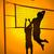 volea · pelota · silueta · ilustración · personas · jugando - foto stock © rudall30
