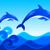 delfines · dos · agua · mar · diseno · belleza - foto stock © rudall30