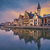 kép · Belgium · esős · szürkület · kék · óra - stock fotó © rudi1976
