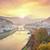 folyó · óváros · hazugság · zöld · dombok · Ausztria - stock fotó © rudi1976