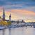 Zürich · Zwitserland · kerk · hemel · huis · zonsondergang - stockfoto © rudi1976
