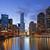 Чикаго · ночь · центра · дороги · Skyline - Сток-фото © rudi1976