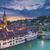 kép · város · Svájc · drámai · naplemente - stock fotó © rudi1976