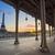 ponte · Paris · França · metal · colunas · pessoas - foto stock © rudi1976