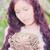 kız · güzel · hippi · beyaz - stok fotoğraf © runzelkorn