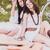 iki · hippi · kızlar · gitar · beyaz - stok fotoğraf © runzelkorn