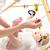 bebek · sarışın - stok fotoğraf © runzelkorn