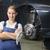 女性 · 車 · メカニック · 見える · 誇りに思う · 青 - ストックフォト © runzelkorn