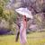 şemsiye · genç · güzel · kız · ayakta · gün · batımı - stok fotoğraf © runzelkorn