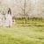 Fuß · Kirschblüten · zwei · junge · Frauen · tragen · lange - stock foto © runzelkorn