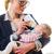 anne · bebek · şişe · yetişkin · kadın · beyaz - stok fotoğraf © runzelkorn