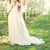nina · flor · de · cerezo · largo · vestido · blanco - foto stock © runzelkorn