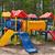 赤 · 遊び場 · スライド · 空っぽ · 木材 · 夏 - ストックフォト © ruslanomega