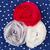 白 · 水玉模様 · 青 · ファブリック · シームレス - ストックフォト © ruslanomega