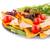 nachos · cseresznye · saláta · gyógynövények · tányér · fehér - stock fotó © ruzanna