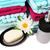 rosa · sabão · garrafa · colorido · toalhas - foto stock © ruzanna