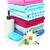 toalhas · flores · isolado · branco · flor - foto stock © ruzanna