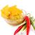 nachos · rojo · salsa · placa · aislado · blanco - foto stock © ruzanna