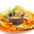 nachos · salsa · blanco · placa · queso · mexicano - foto stock © ruzanna