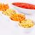 batatas · fritas · vermelho · molho · isolado · cinza · laranja - foto stock © ruzanna
