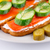 finom · lazac · szendvicsek · füstölz · lazac · hozzávalók · francia · kenyér - stock fotó © ruzanna