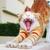 красный · котенка · белый · лице · фон · весело - Сток-фото © ruzanna