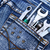 argent · vêtements · bleu · nappe · métal - photo stock © ruzanna