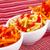 batatas · fritas · tigela · isolado · branco · comida · fundo - foto stock © ruzanna