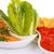 nachos · formaggio · rosso · salsa · verdura · isolato - foto d'archivio © ruzanna