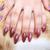 женщину · рук · красный · ногтя · изолированный · белый - Сток-фото © ruzanna