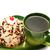 kırmızı · yeşil · fincan · yalıtılmış · beyaz - stok fotoğraf © ruzanna