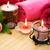toalhas · sabão · flor · velas · textura · fogo - foto stock © ruzanna