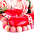 red heart candles necklace and roses stock photo © ruzanna