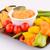 nachos · formaggio · salsa · verdura · isolato · bianco - foto d'archivio © ruzanna