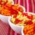 batatas · fritas · ketchup · isolado · colorido · toalha · de · mesa · fundo - foto stock © ruzanna