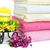 törölközők · boglya · tiszta · színes · gyertya · virágok - stock fotó © ruzanna